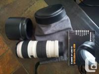 I have 70-200 mm L lenses available for sale. This