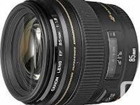 Canon EF 85mm f1.8 USM Excellent Problem.  Canon EF
