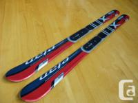 120cm Elan Integra Jr. Race Skis for Sale. Used for one