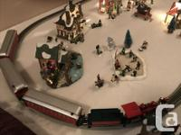 Electric Christmas Train, Christmas Village and board