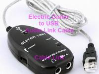 Electric Guitar to USB Interface Audio Link Cable Mac