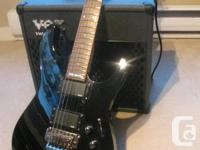 Electric guitar ,Vox Vavletronix amp, Stand  Perfect