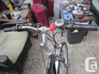 The reason for selling is because of back injury, Bike