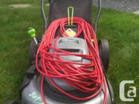 "Earthwise Electric Lawnmower 20"" (larger area) 12Amp"