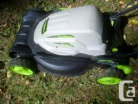 This lawn mower is in like new condition. It is a