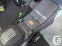 """Earthwise 20"""" 12 Amp Electric corded lawnmower with"""