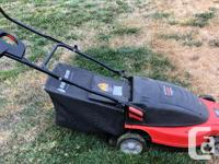 Corded lawn mower. Runs great, but I have no need for