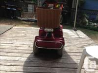 Colour Red Electric Scooter for sale, Great shape,