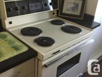 Electric range and oven available for sale. It was