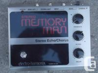 Electro Harmonix Stereo Memory Man Echo/Chorus, in