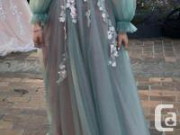 An elegant aqua dress that you can wear to any formal