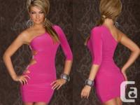 Elegant Party or Clubwear Dress Pink Size S-M  Stretchy