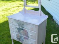 Lovely vintage dresser painted to compliment your