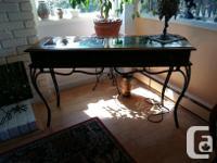 """Elegant vintage hallway table dim 48""""x16"""" Wood and"""
