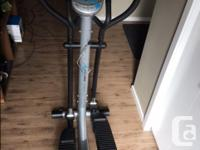 Hello, I am selling our Elliptical and exercise bike.
