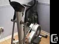 hardly used elliptical machine.Works