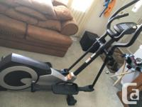 Three year old elliptical trainer. Has been used