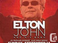 I have 2 tickets available for the Elton John concert