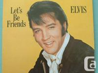 Elvis Presley 3 vinyl LP lot: Let's Be Friends: