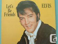 Elvis Presley 3 vinyl LP lot: Permit's Be Friends: