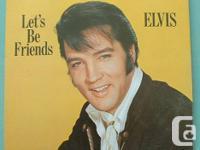 Elvis Presley 3 vinyl LP lot: Permit's Be Friends: