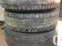 Available made use of Set of 4 Tires All Seasons