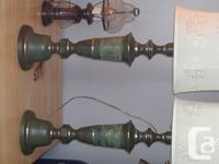 I have two verdegre metal cast table lamps. I bought