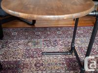 """""""Nesting"""" end tables with industrial pipe bases. Solid"""