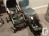 Stroller with detachable carrying seat that also