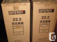 One pair of Energy 22.2 speakers in gloss black - very