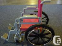 Includes Wheelchair, pair of crutches, a boot and arm