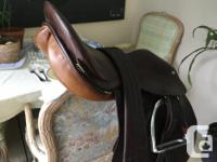 """I have an older English saddle, 17"""" for sale. This"""