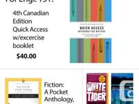 Textbooks: 4th Canadian Edition Quick Access - $40.00