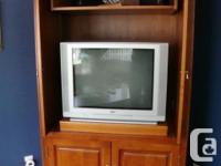 Quality crafted entertainment unit. - maple with rich,