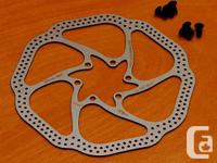 160mm brake blades.  From the SRAM internet site:.