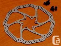160mm brake blades.  From the SRAM internet site:.