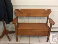 Nice functional bench for your front or other entrance.