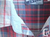 Enyce - Blue/Red Plaid Short Sleeve Shirt - button up