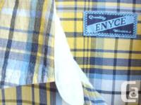 Enyce - Blue/Yellow Plaid Short Sleeve Shirt - button