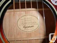The Epiphone EJ-200CE Acoustic-Electric Guitar is