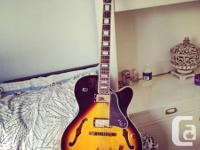 This beautiful Hollow body Epiphone sounds great as a