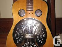 Nice 25-year-old Epiphone Resonator Guitar. Spruce top,