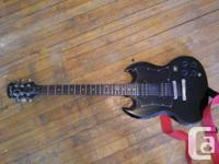 Hello,  I am selling an Epiphone SG ebony guitar, it for sale  Ontario