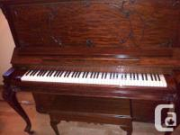 Gorgeous Haines Bros upright grand piano, developed