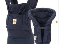 The most amazing baby carrier (navy) and infant insert