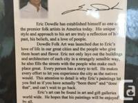 "NEW! Eric Dowdle Folk Artist Hand Printed ""Lake Tahoe"""