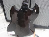 The ESP LTD Viper-100FM electric guitar is in excellent