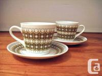 Vintage Royal Tuscan espresso cups & saucers in fine