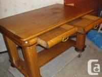 THIS ANTIQUE DESK IS OVER 100 YEARS OLD. IT IS MADE OF