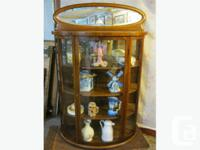 "THIS OAK CHINA CABINET IS 41"" WIDE, 17"" DEEP AND 62"""